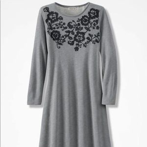 French Terry Appliqué Dress